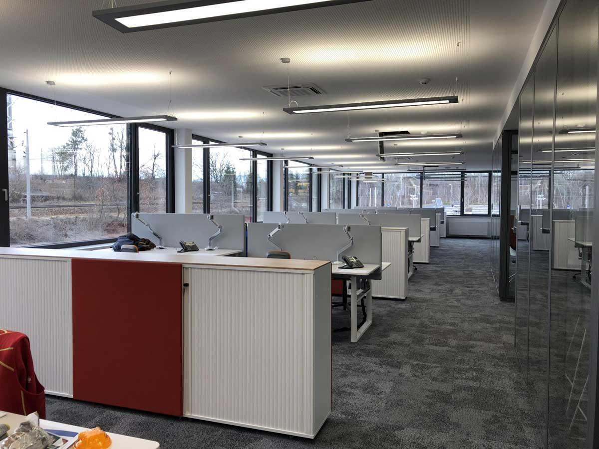 Büro im neuen Novaled Firmensitz in Dresden