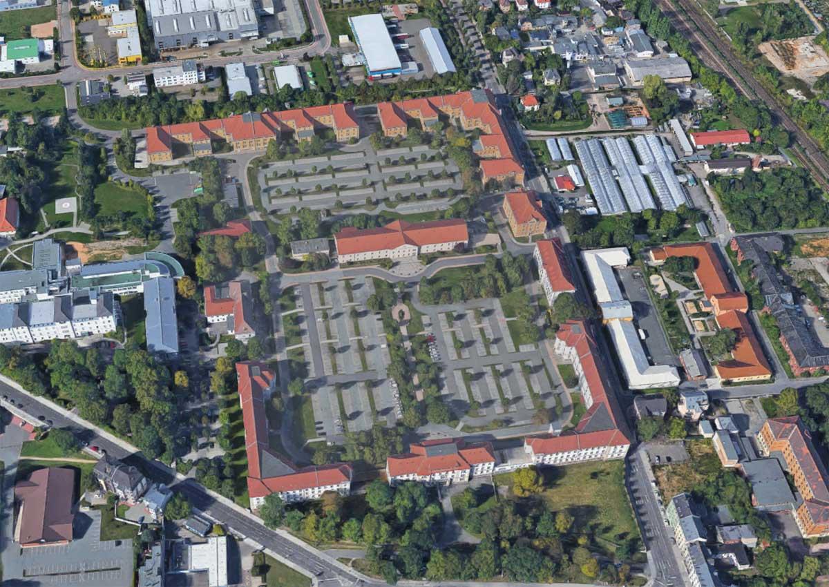 Luftbildaufnahme Verwaltungszentrum Zwickau