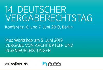 14. Deutscher Vergaberechtstag mi Workshop der hpm