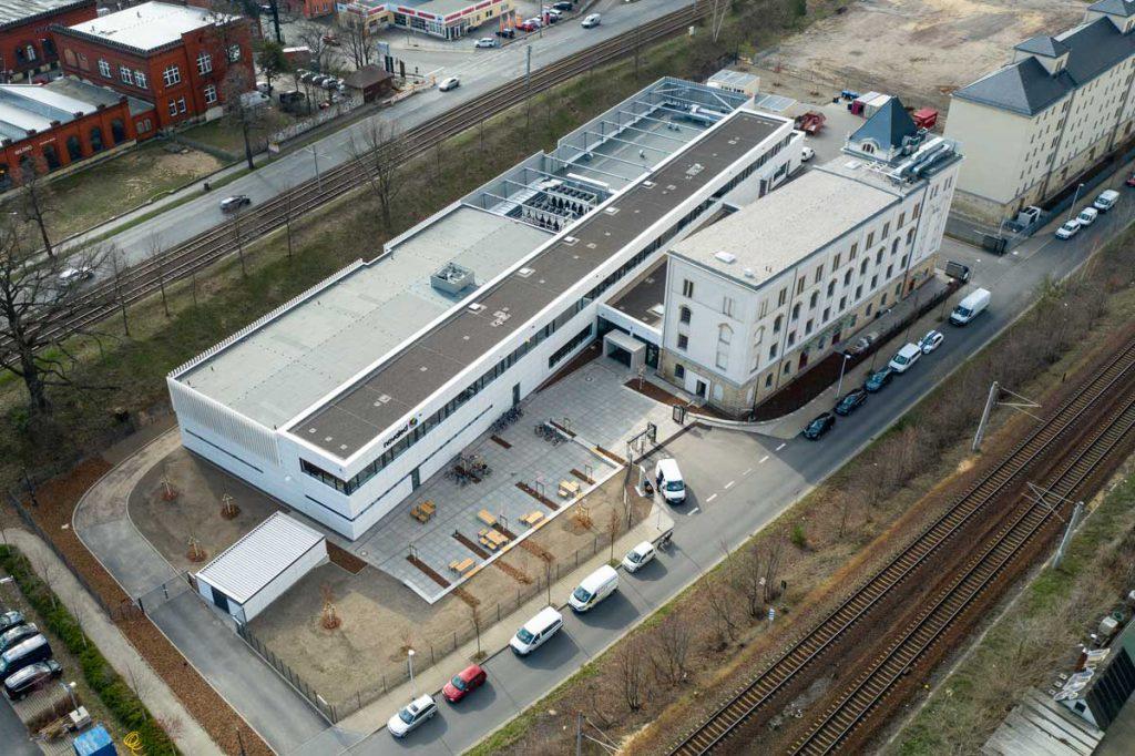 der neue Novaled Firmensitz an der Elisabeth-Boer-Straße