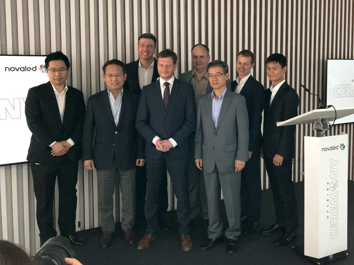 Einweihung des neuen Novaled-Firmensitzes, Foto: hpm
