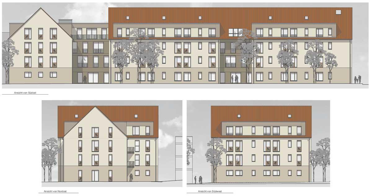 Fachpflegezentrum Altleuben, Farbkonzept; Quelle: rau-architekten