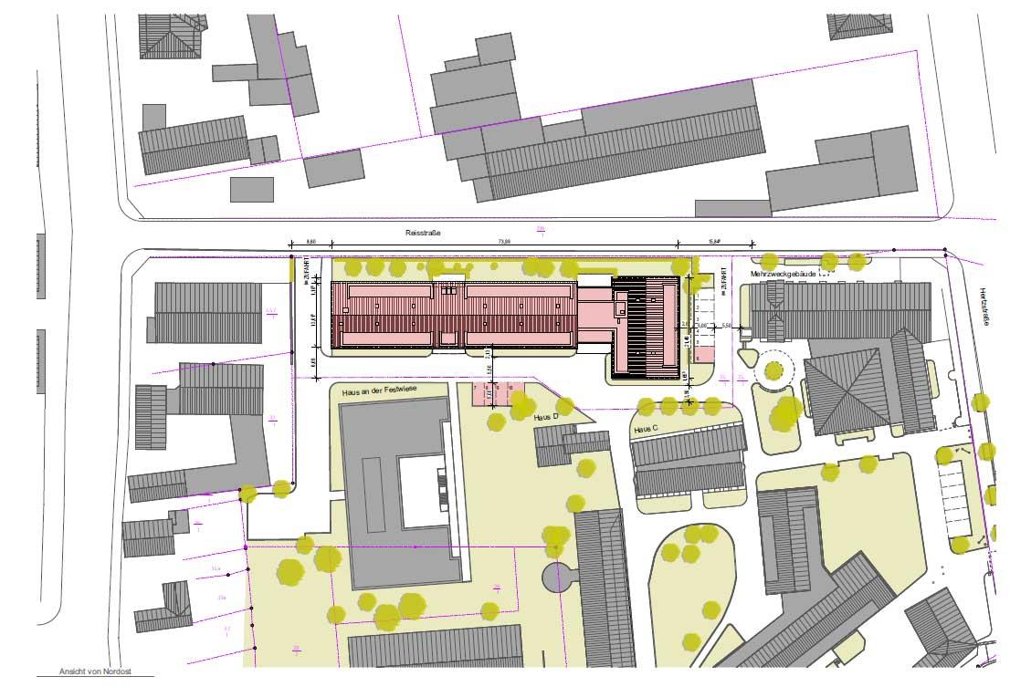 Fachpflegezentrum Altleuben, Lageplan; Quelle: rau-architekten