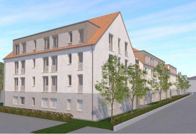 Fachpflegezentrum Altleuben, Visualisierung; Quelle: rau-architekten