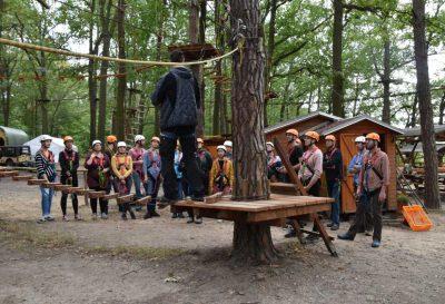 hpm Henkel Projektmanagement Team-Event im Hochseilgarten Mittelteichbad Moritzburg