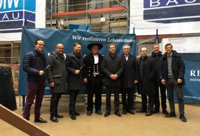 Richtfest für den neuen Wohn- und Geschäftskomplex am Altmarkt Dresden