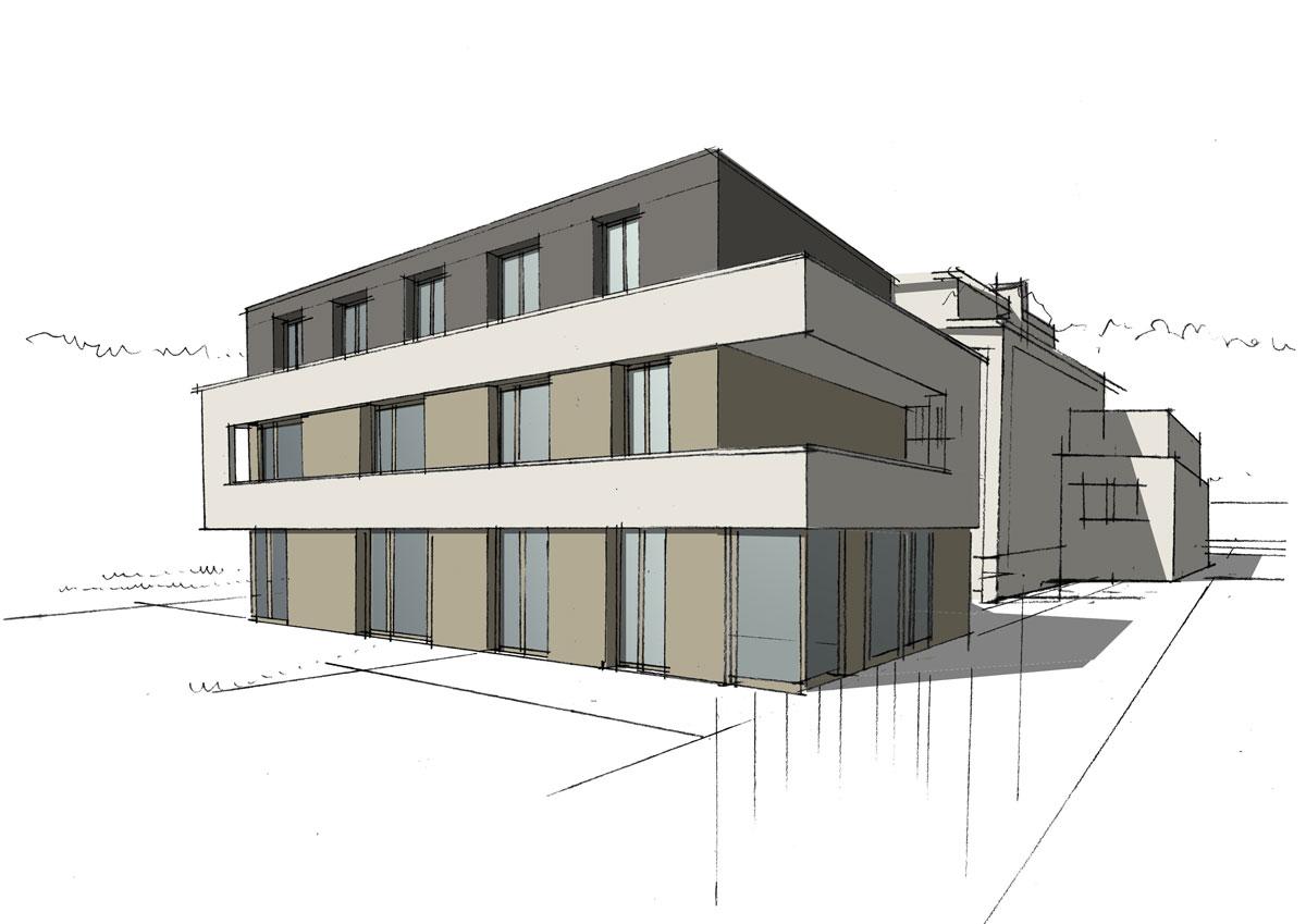 Entwurf zur Sanierung des Bischof-Wienken-Hauses; Quelle: Planungsbüro Schubert
