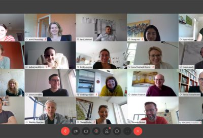 Teammeeting per Videokonferenz bei hpm Henkel Projektmanagement GmbH