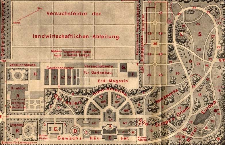 Gartenplan von 1910, Quelle: TU Dresden