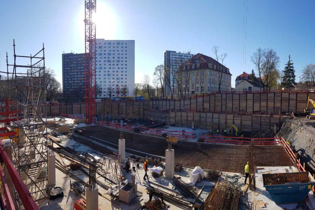 Baustelle REWE-Haus Fritz-Löffler-Platz Dresden, Foto: hpm