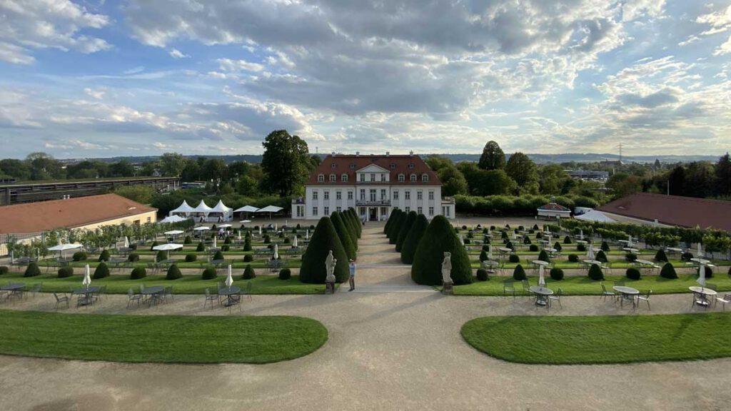 Barocke Anlage des Schloss Wackerbarth