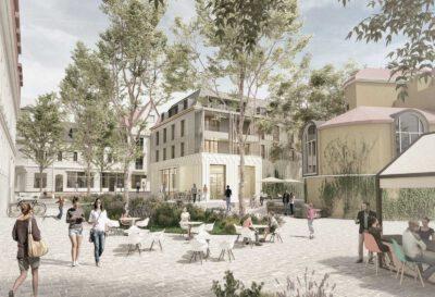 Der Siegerentwurf für den Neubau auf dem Weißen Hirsch; Visualisierung: Tchoban Voss Architekten